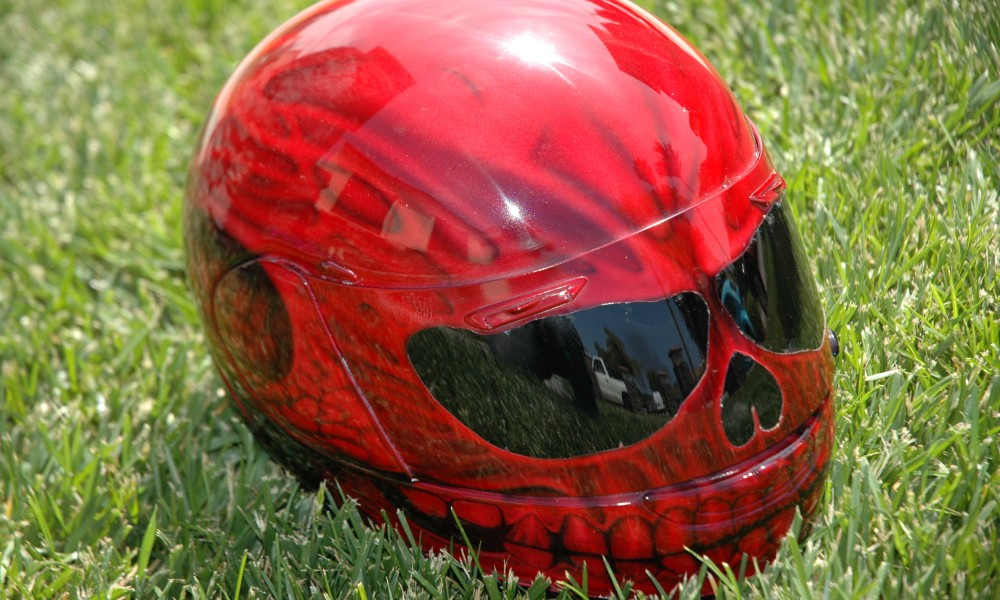 How to Paint a Motorcycle Helmet