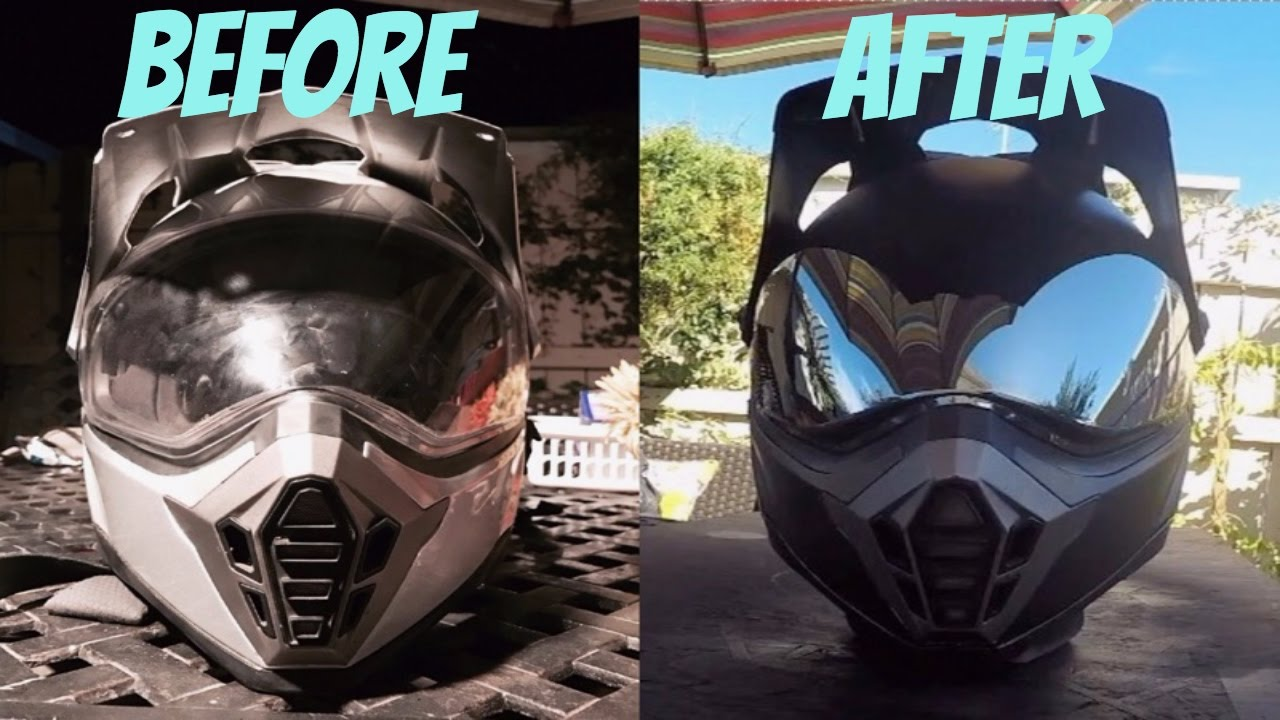 Spray Paint Motorcycle Helmet